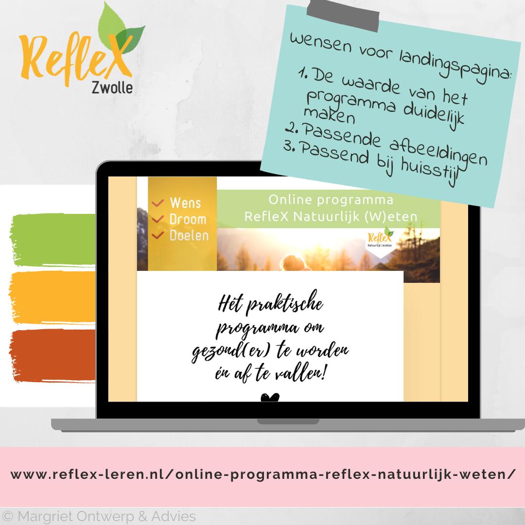 Collage landingspagina online programma